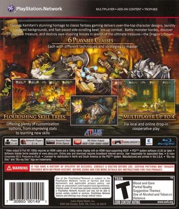 Dragon's Crown PS3 backM (BLUS30767)