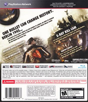 Sniper Elite V2 PS3 backM (BLUS30798)
