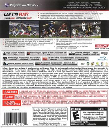 Pro Evolution Soccer 2012 PS3 backM (BLUS30805)
