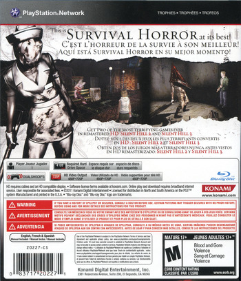 Silent Hill: HD Collection PS3 backM (BLUS30810)
