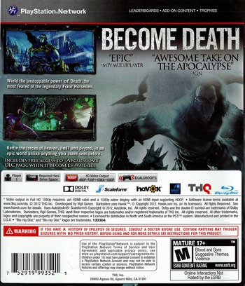 Darksiders II PS3 backM (BLUS30829)