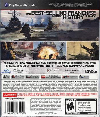 Call of Duty:Modern Warfare 3 PS3 backM (BLUS30887)