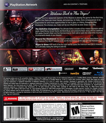Fallout New Vegas: Ultimate Edition PS3 backM (BLUS30888)