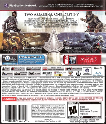 Assassin's Creed: Revelations PS3 backM (BLUS30905)