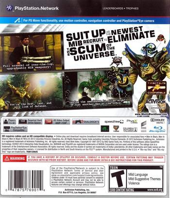 Men In Black: Alien Crisis PS3 backM (BLUS30922)