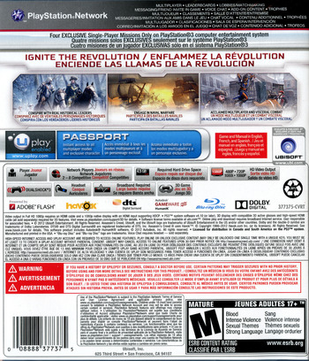 Assassin's Creed III PS3 backM (BLUS30991)