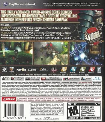 BioShock: Ultimate Rapture Edition PS3 backM (BLUS31149)