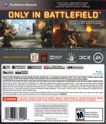 Battlefield 4 PS3 backM (BLUS31162)