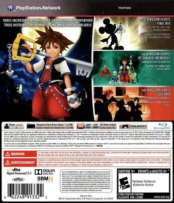 Kingdom Hearts HD 1.5 ReMIX PS3 backM (BLUS31212)