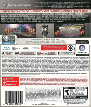 Rocksmith 2014 Edition PS3 backM (BLUS31354)