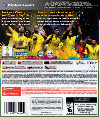 2014 FIFA World Cup Brazil PS3 backM (BLUS31389)