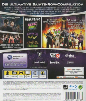 Saints Row : The Third The Full Package PS3 backM2 (BLES01748)