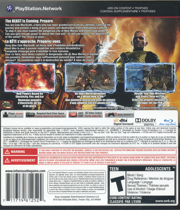 inFamous 2 PS3 backM2 (BCUS98125)