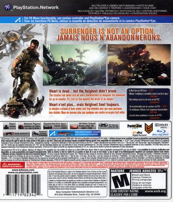 Killzone 3 PS3 backM2 (BCUS98234)