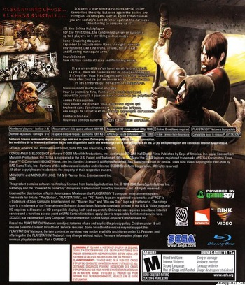 Condemned 2: Bloodshot PS3 backM2 (BLUS30115)