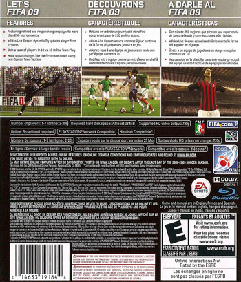 FIFA Soccer '09 PS3 backM2 (BLUS30176)