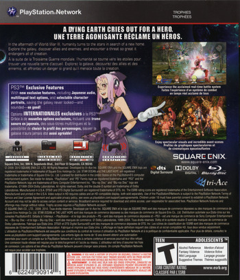 Star Ocean: The Last Hope - International PS3 backM2 (BLUS30462)