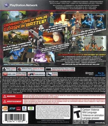 Naruto Shippuden:Ultimate Ninja Storm Generations PS3 backM2 (BLUS30792)