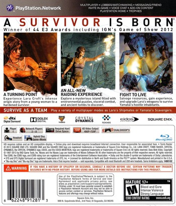 Tomb Raider PS3 backM2 (BLUS31036)