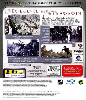 Assassin's Creed PS3 backMB (BLES00158)