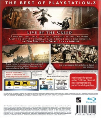 Assassin's Creed II PS3 backMB (BLES00669)