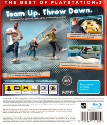 Skate 3 PS3 backMB (BLES00760)