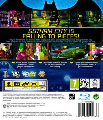 LEGO Batman: The Videogame PS3 backMB (BLES00332)