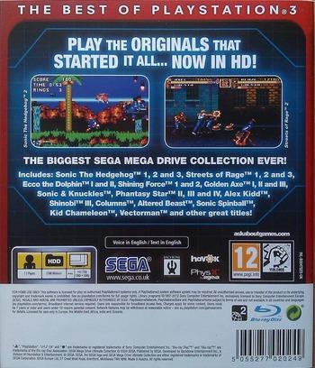 Sega Mega Drive: Ultimate Collection PS3 backMB (BLES00475)