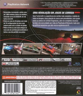 Gran Turismo 5 PS3 backMB (BCUS98114)