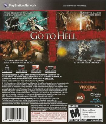 Dante's Inferno (Divine Edition) PS3 backMB (BLUS30405)