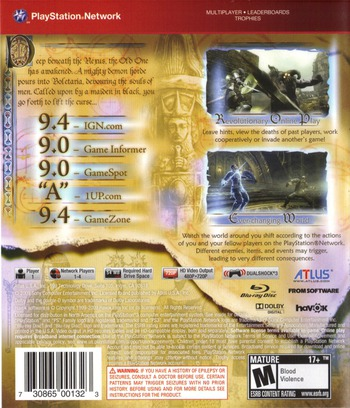 Demon's Souls PS3 backMB (BLUS30443)