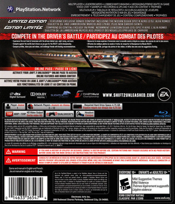 Shift 2: Unleashed PS3 backMB (BLUS30580)