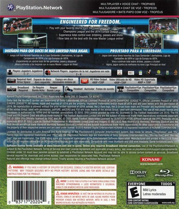 Pro Evolution Soccer 2011 PS3 backMB (BLUS30610)