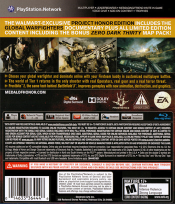 Medal of Honor: Warfighter PS3 backMB2 (BLUS30990)