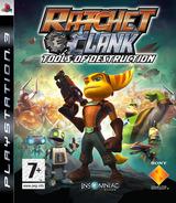 Ratchet & Clank: Tools of Destruction PS3 cover (BLES00052)