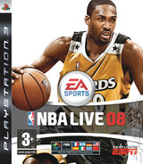 NBA Live 08 PS3 cover (BLES00119)