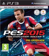 Pro Evolution Soccer 2015 PS3 cover (BLES02087)