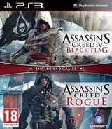Assassin's Creed IV:Black Flag + Rogue PS3 cover (BLES02204)