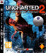 Uncharted 2: El Reino de los Ladrones PS3 cover (BCES00757)