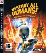 Destroy All Humans! El Camino del Recto Furon PS3 cover (BLES00467)