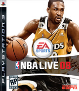 NBA Live 08 PS3 cover (BLUS30060)