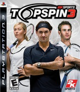 Top Spin 3 PS3 cover (BLUS30157)