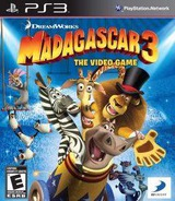 Madagascar Three The Video Game PS3 cover (BLUS30980)