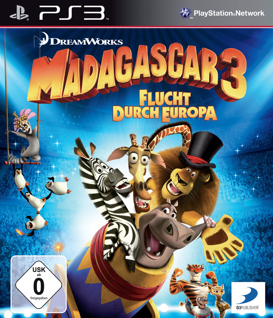 Madagascar 3: Flucht Durch Europa PS3 coverHQ (BLES01624)