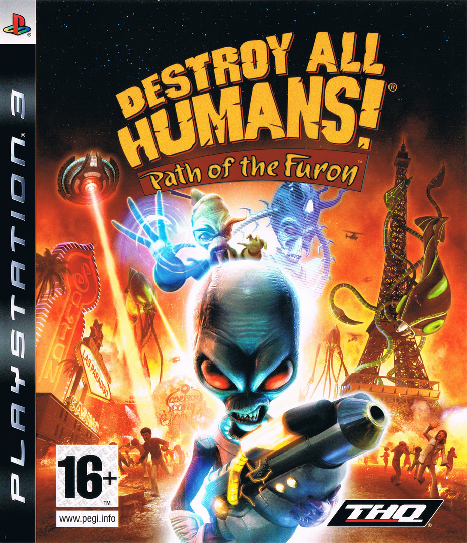 Destroy All Humans! Path of the Furon PS3 coverHQ (BLES00467)