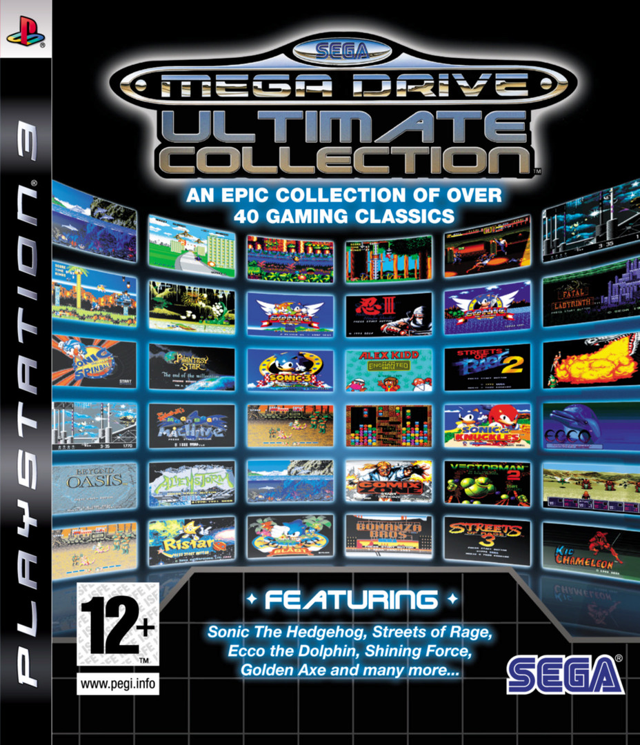 Sega Mega Drive: Ultimate Collection PS3 coverHQ (BLES00475)