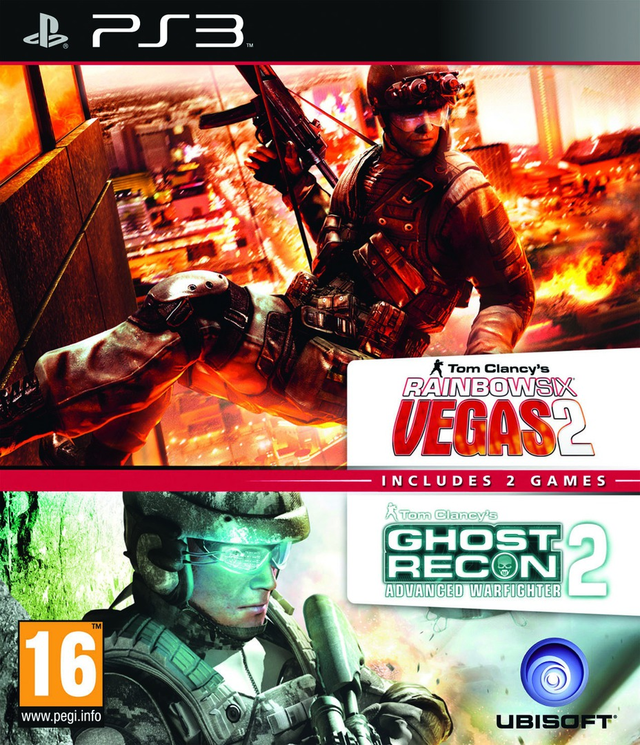 Tom Clancy's Rainbow Six Vegas 2 (Complete Edition) + Ghost Recon Advanced Warfighter 2 (Double Pack) PS3 coverHQ (BLES01590)