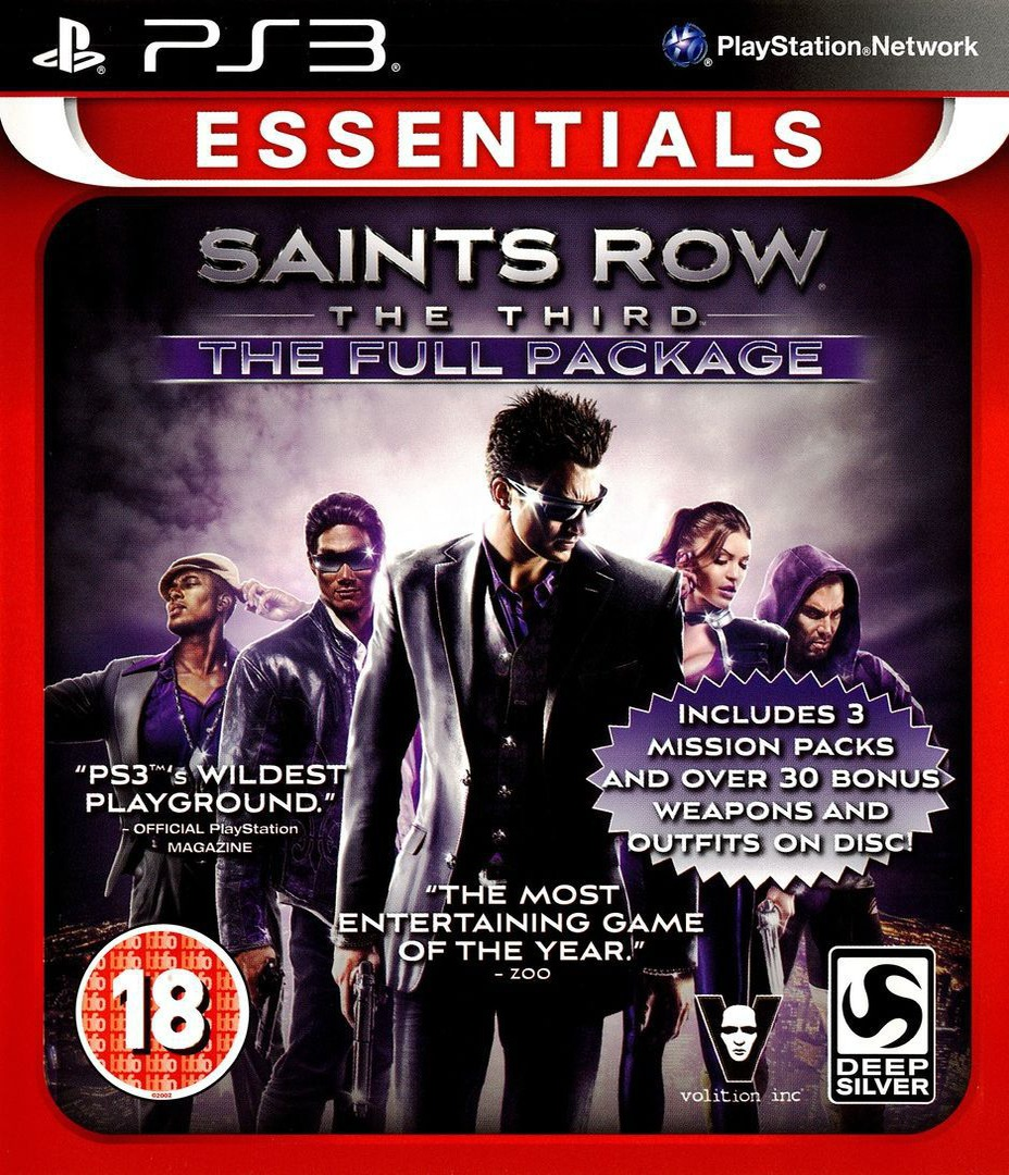 Saints Row: The Third - The Full Package PS3 coverHQ (BLES01747)