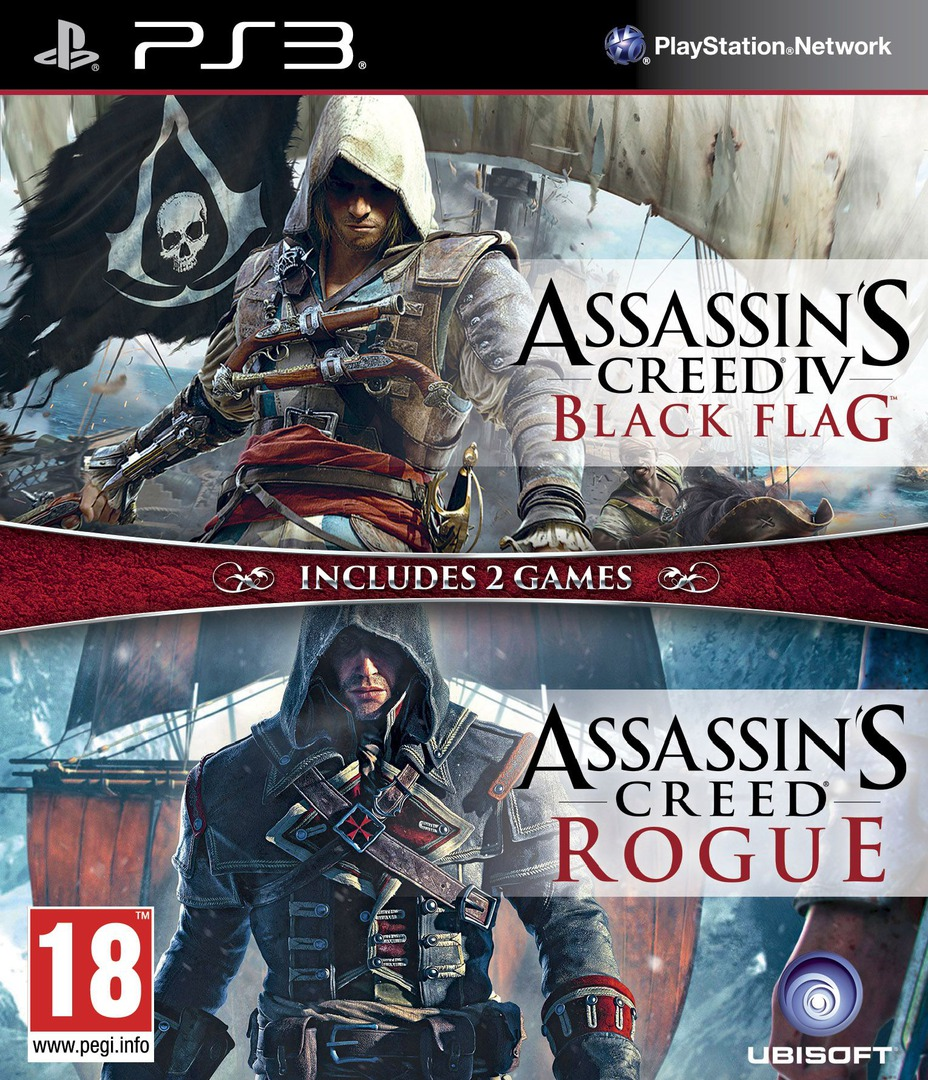 Assassin's Creed IV:Black Flag + Rogue PS3 coverHQ (BLES02204)