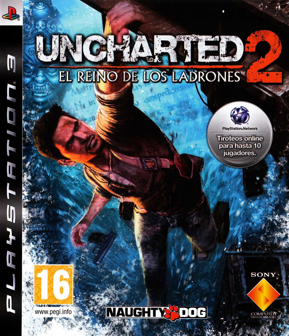Uncharted 2: El Reino de los Ladrones PS3 coverHQ (BCES00757)